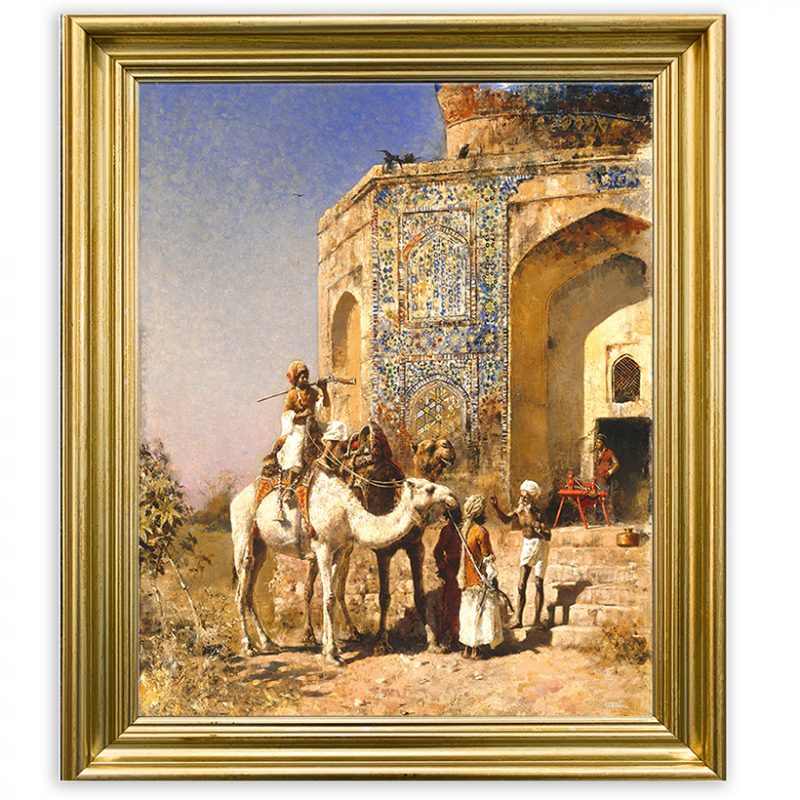 Edwin Lord Weeks – Old Blue-Tiled Mosque Outside Delhi [c.1885]-25×28-9750