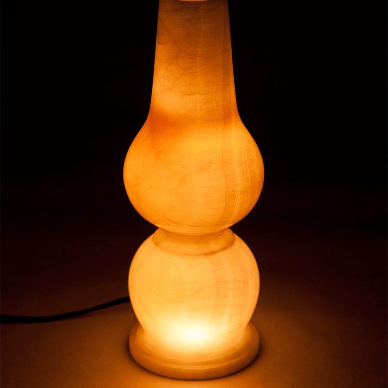 Afghani onyx white lamp