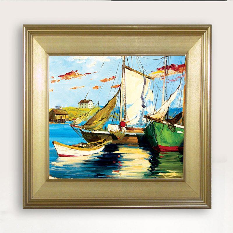 BoatsPainting-27×27-14000