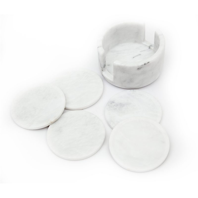 White Marble Tea Coasters-1000